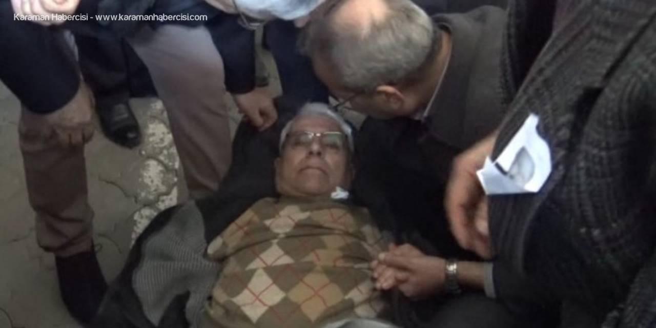 Cenazede Rahatsızlanan Vatandaşa İlk Müdahale Başkandan