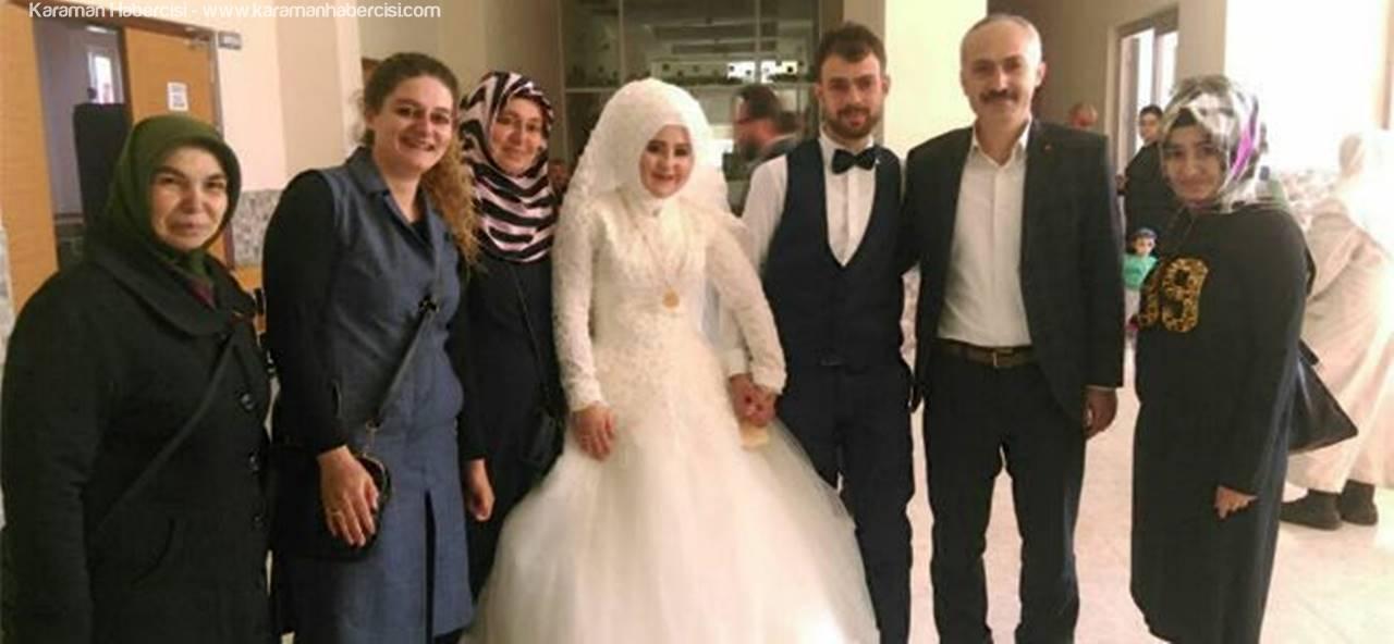 Karaman'da Gelin ve Damat Düğünden Önce Sandık Başına Gittiler