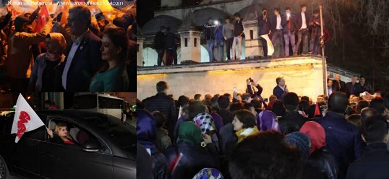 Karaman'da EVET Coşkusu Meydana Taştı