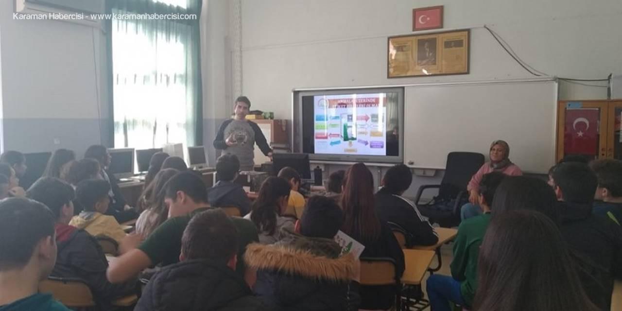 Karaman'da Okullarda Gıda Güvenilirliği ve Gıda İsrafı Anlatılıyor
