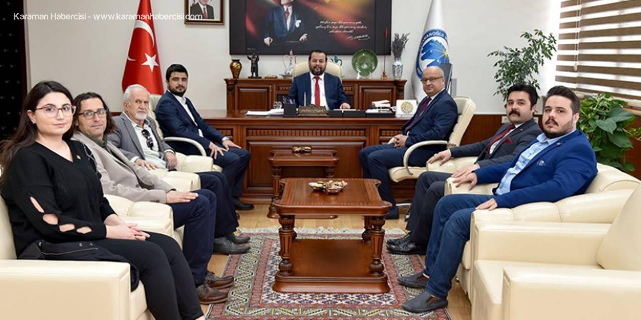 CHP Karaman İl Teşkilatından KMÜ'ye Ziyaret