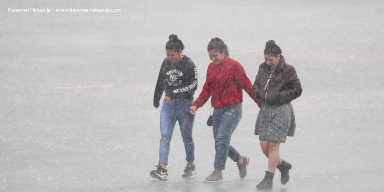 Karaman, Konya, Aksaray ve Niğde İlleri İçin Yağış Uyarısı