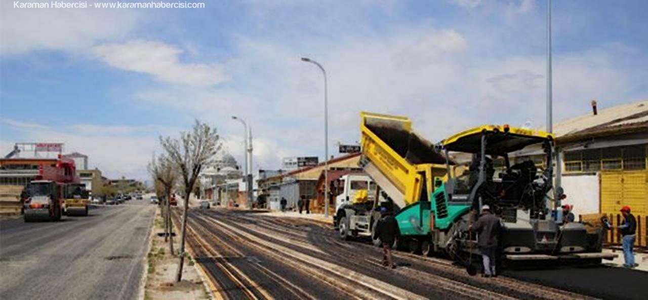 Karaman'da Asfalt Çalışmaları Yeni Sanayi Sitesinde Devam Ediyor