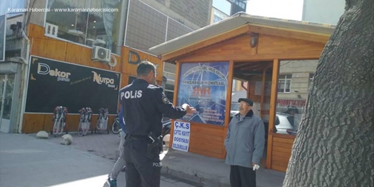 Konya'da Hastaneye Giden Yaşlı Adama Polis Yardımı