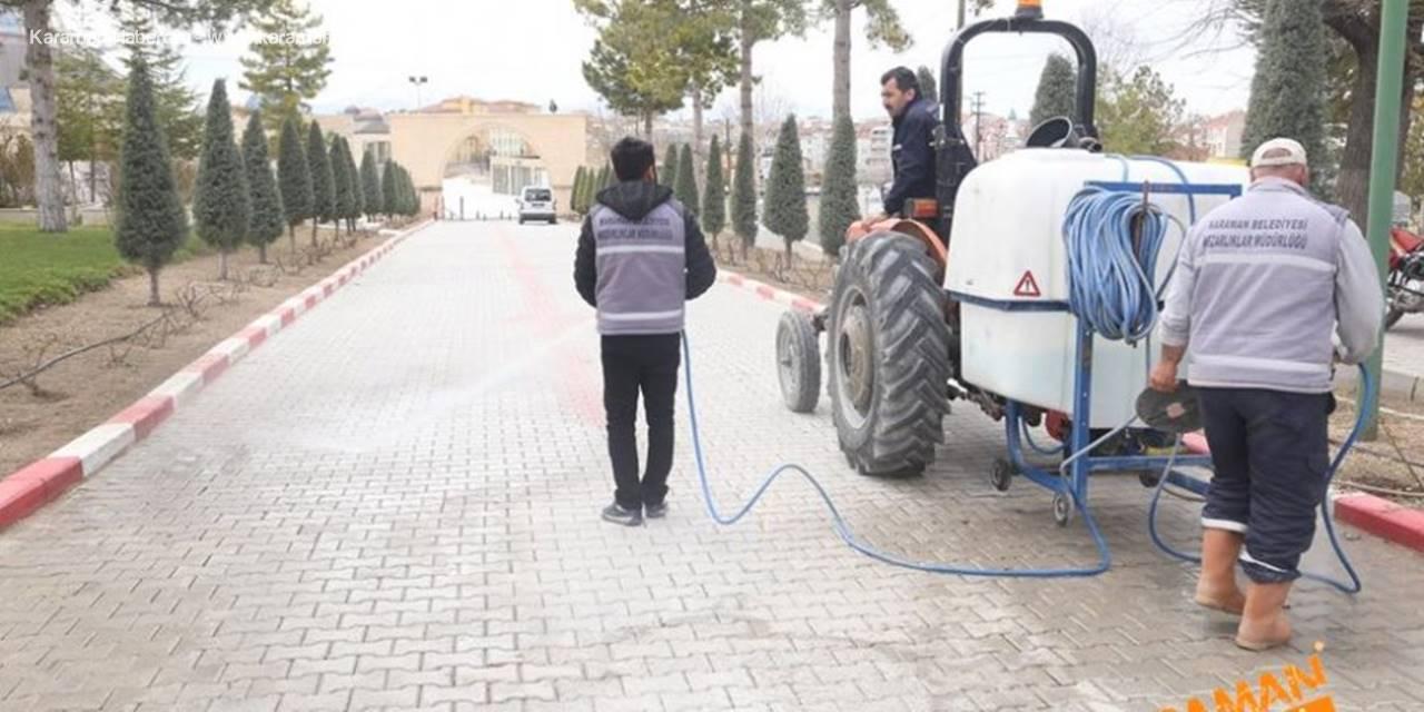 Karaman'da Çevre Düzenlemeleri ve Korona Virüs Temizliği
