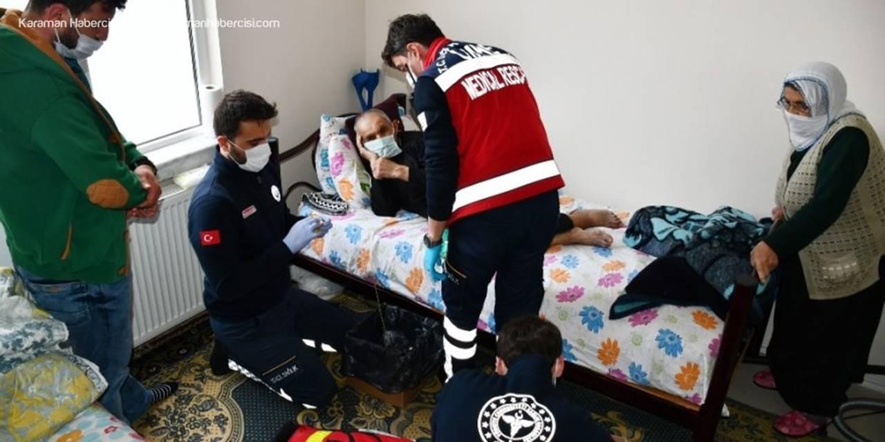 Aksaray'da Umke Ekiplerinin Yaşlılar İçin Tedavi Çalışması