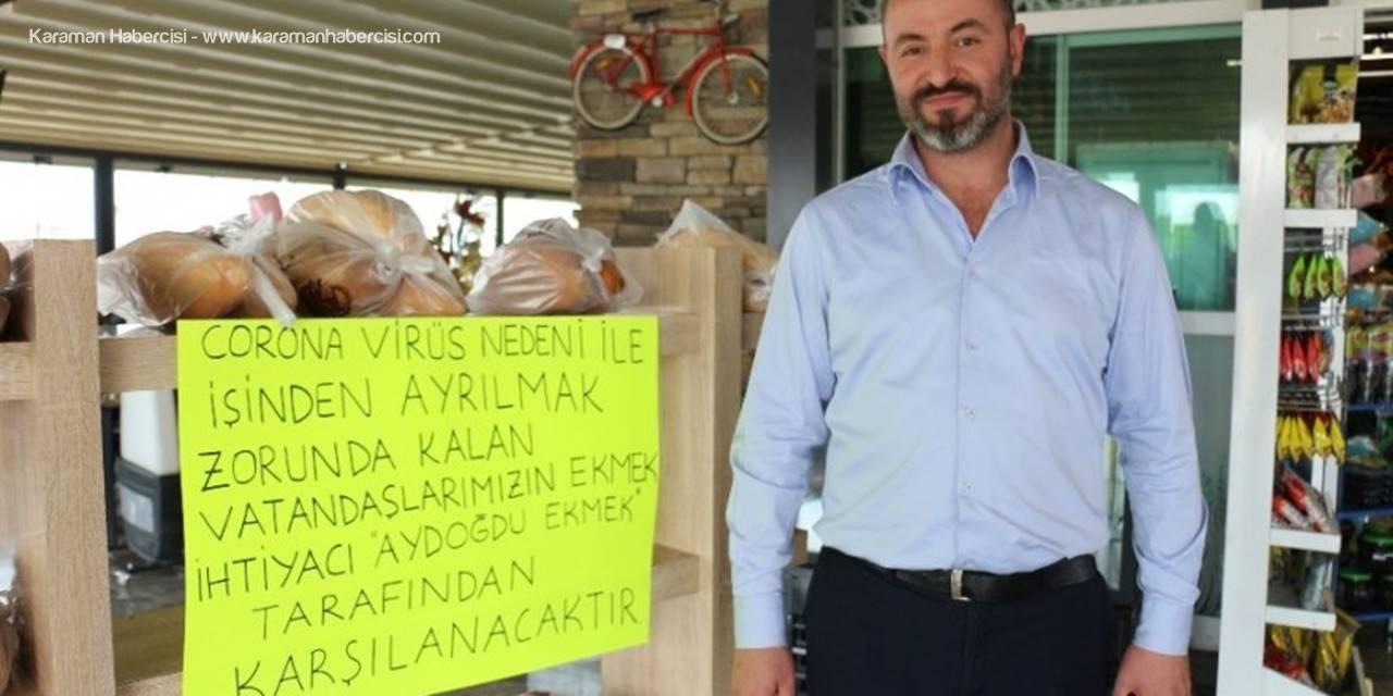 Konya'da Fırıncıdan İhtiyaç Sahiplerine Askıda Ekmek