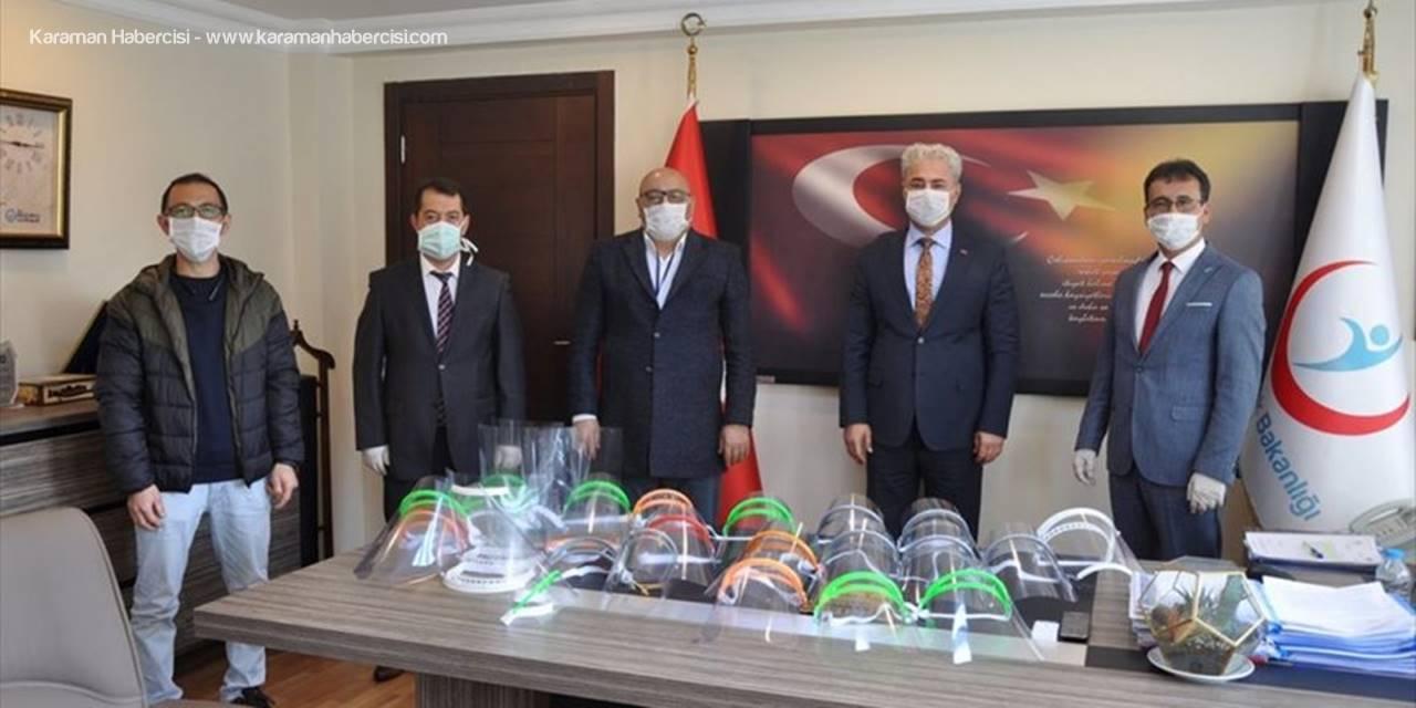 Karaman'da Okullarda Sağlık Çalışanları İçin Siperlikli Maske Üretiliyor