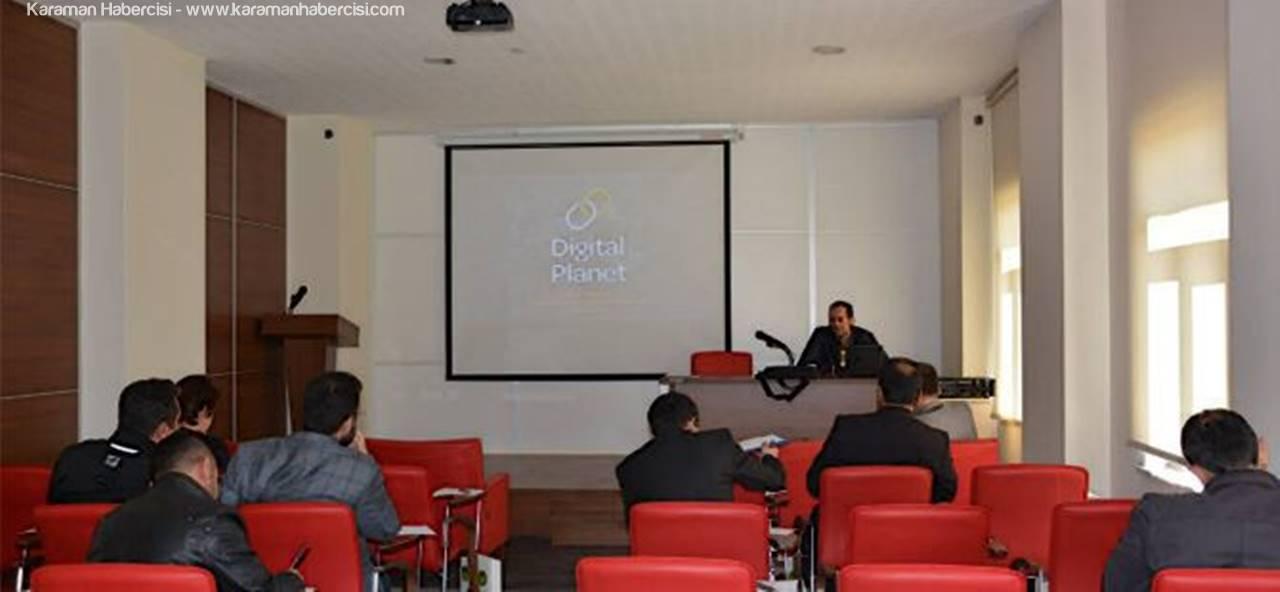 Karaman TSO'da Digital Planet Tarafından Seminer Verildi