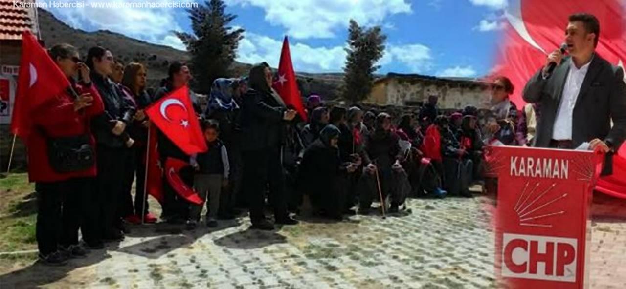 CHP Karaman İl Başkanlığı 23 Nisan'ı Taşkale'de Kutladı