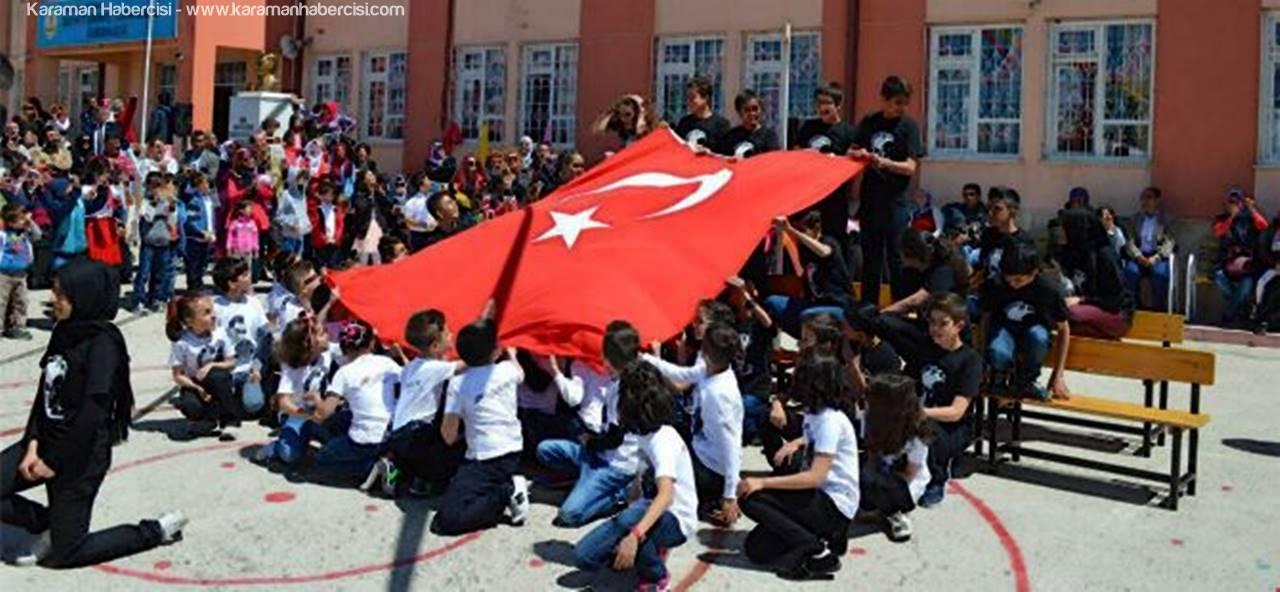 Ermenek'te 23 Nisan Ulusal Egemenlik ve Çocuk Bayramı Kutlandı