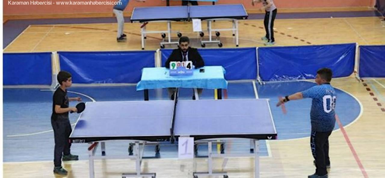 Karaman'da Masa Tenisi Egemenlik Kupası Müsabakaları Tamamlandı