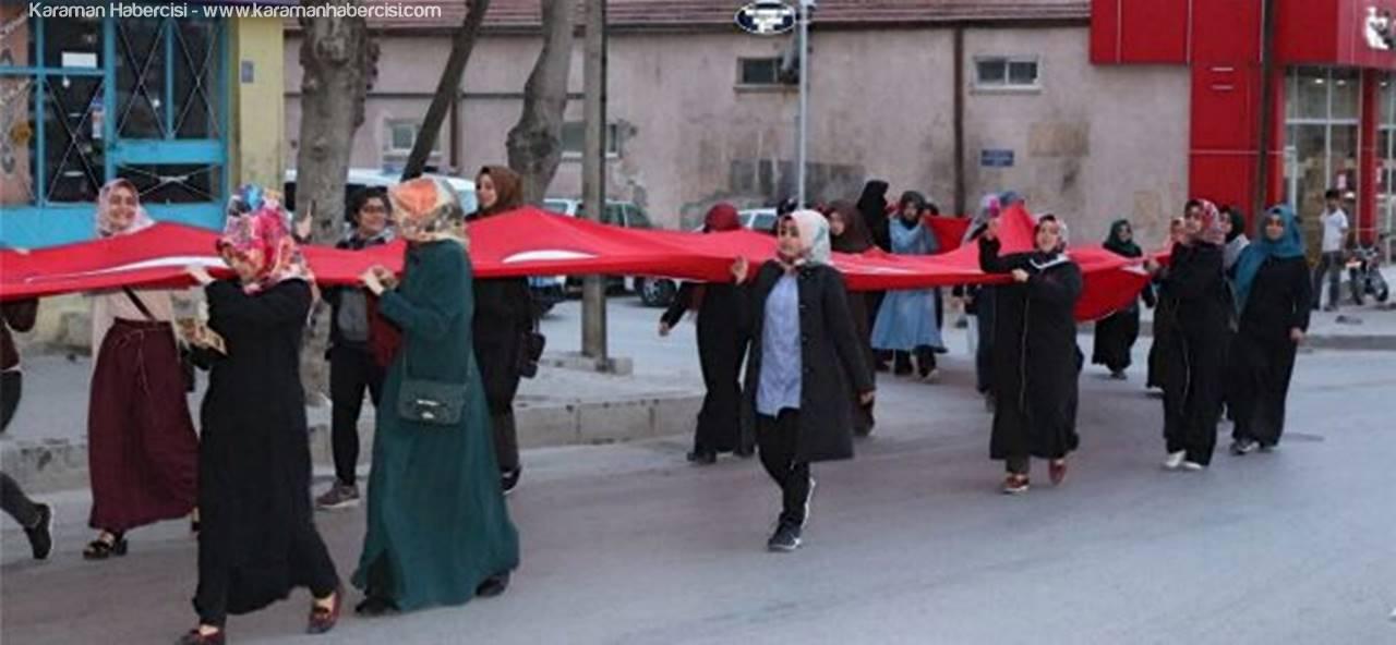 """Karaman'da """"57. Alaya Vefa Yürüyüşü"""" Gerçekleştirildi"""