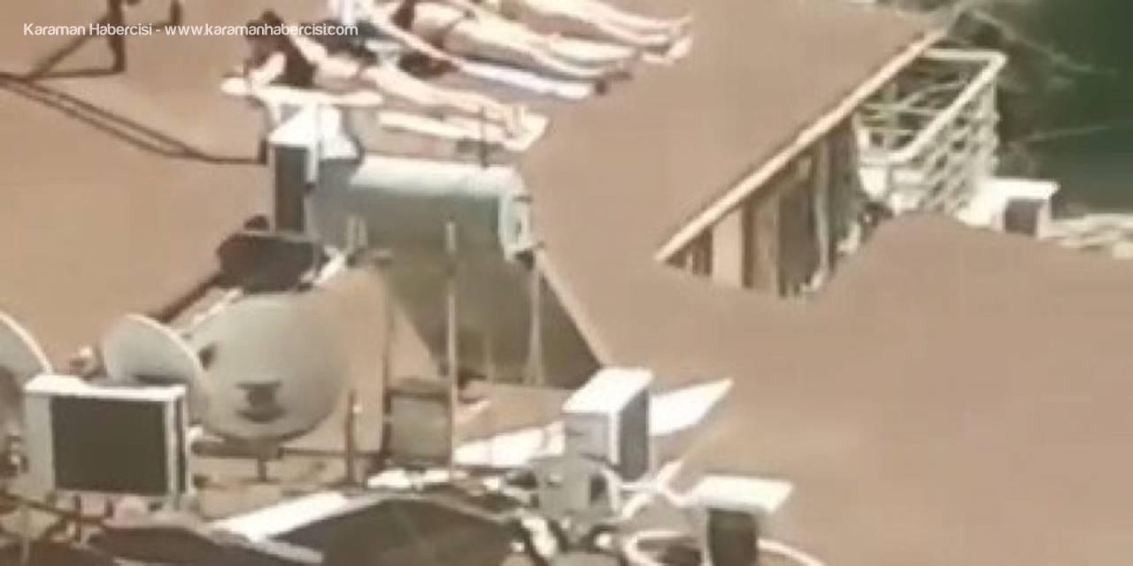 Sahile Gidemeyen Antalyalı Kadınlar Çatıda Güneşlendi