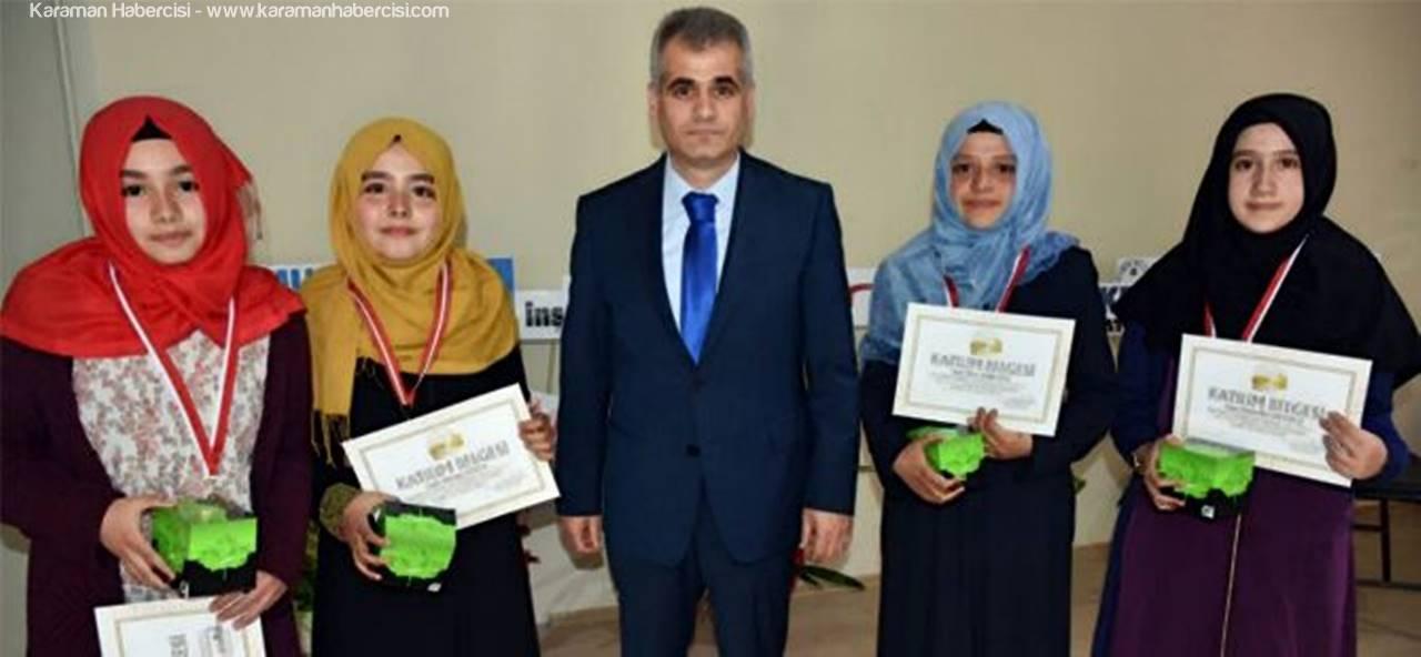 Karaman'da Geleceğin Kur'an Bülbülleri Ödüllendirildiler