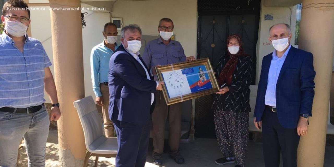 Karaman'da Şehit Ailelerine Ziyaret