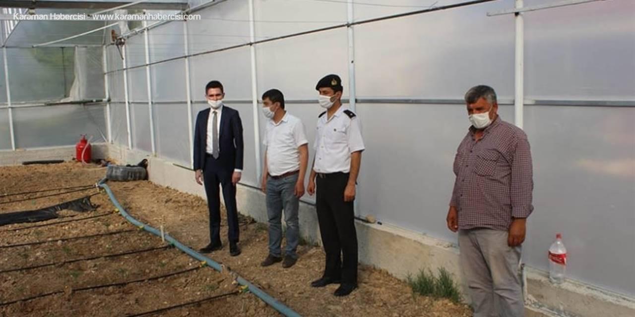Ayrancı'da Seracılık Faaliyetleri İncelendi