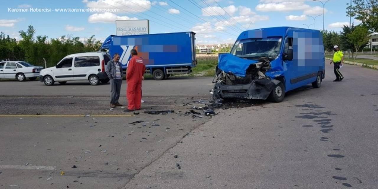 Aksaray'da Sınırlandırmaya Uymayan Genç Kaza Yaptı