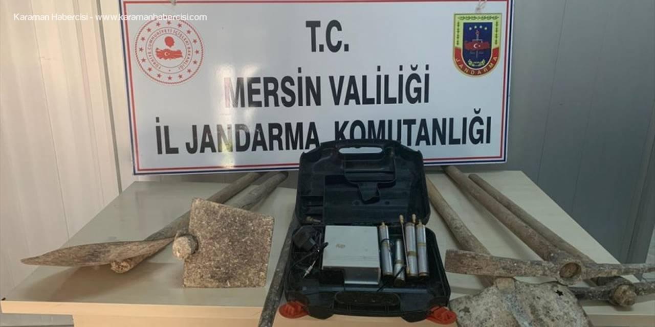 Mersin'de Kaçak Kazıya Suçüstü