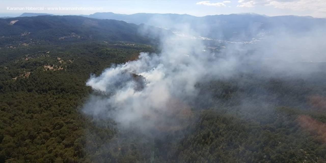 Antalya'da Çıkan Orman Yangınında 8 Hektar Alan Zarar Gördü