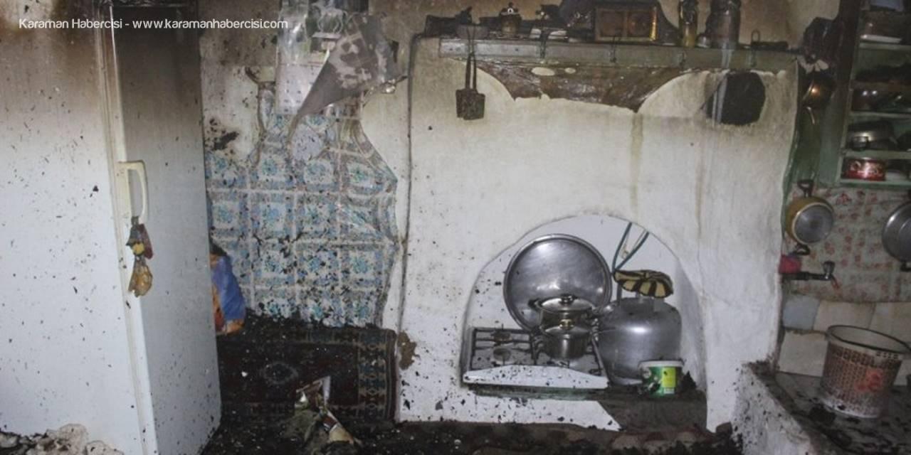 Karaman'da Bir Aile Yanmaktan Kurtulurken Yavru Kedi Telef Oldu