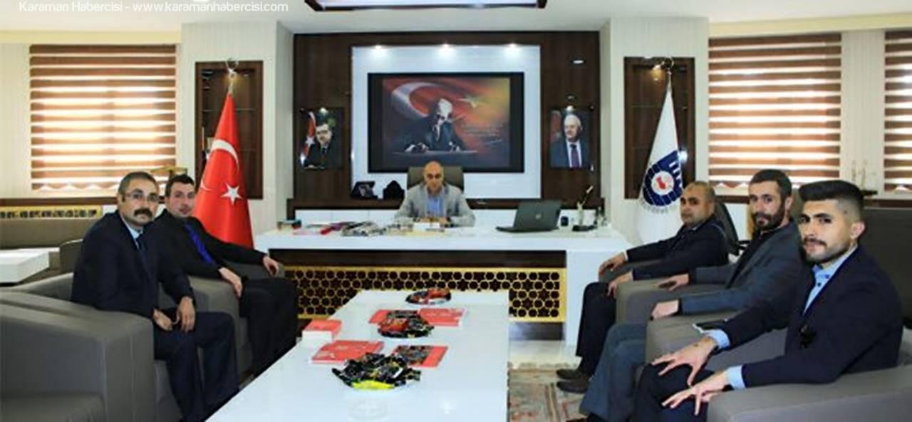 Karaman Ülkü Ocakları'ndan Başkan Çalışkan'a Ziyaret