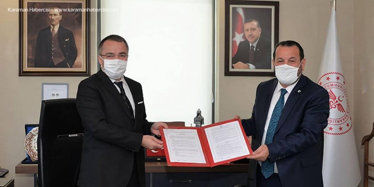 Protokolün Detayında Tıp Fakültesi ve Karaman Devlet Hastanesi Var