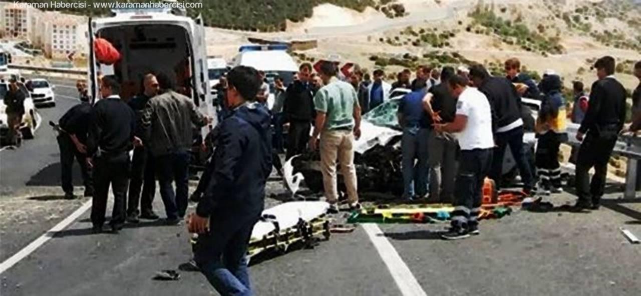 Ermenek'te Trafik Kazası