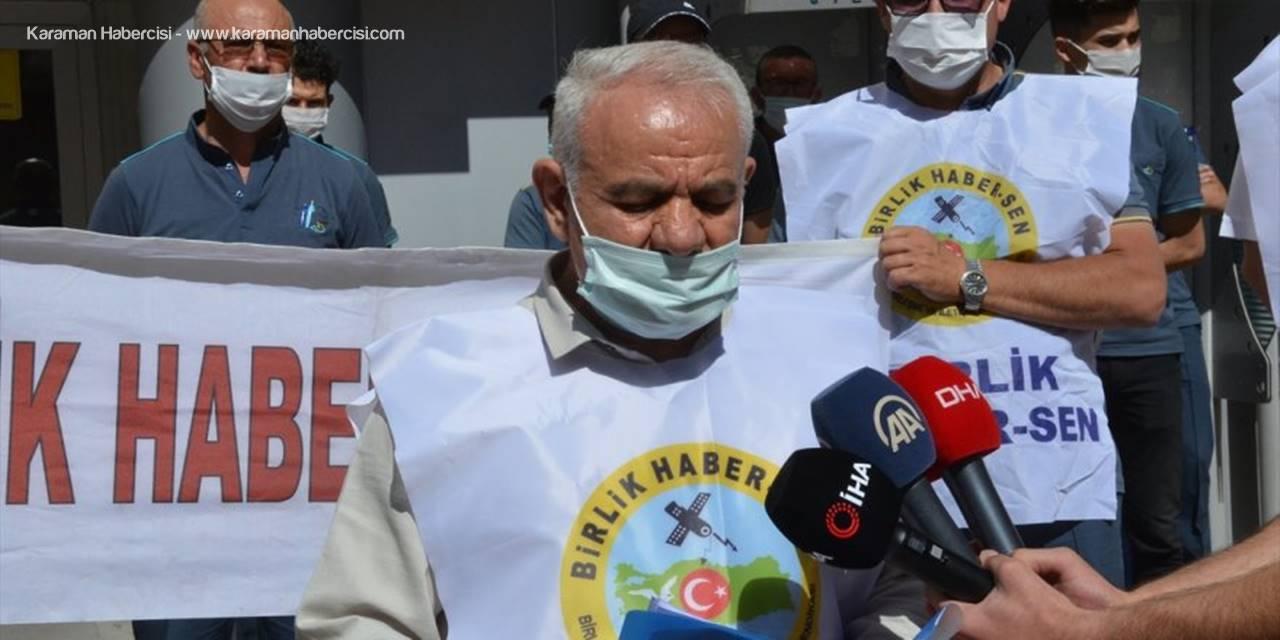Karaman'da PTT Çalışanlarından Protesto