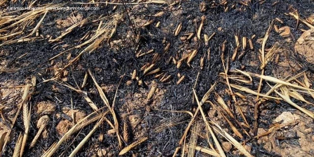 Karaman'da Tarla Yangını