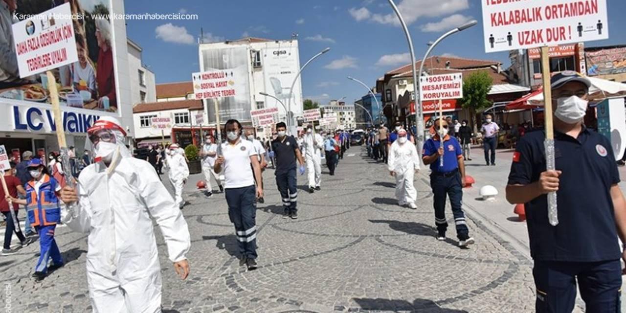 Karaman İsmetpaşa'da En Mesafeli Yürüşe Tanıklık Etti
