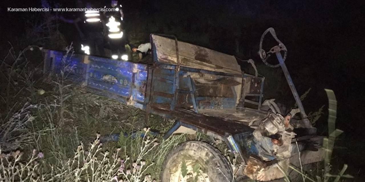 Konya'da Otomobil, Tarım Aracına Çarptı: 1ölü, 5 Yaralı