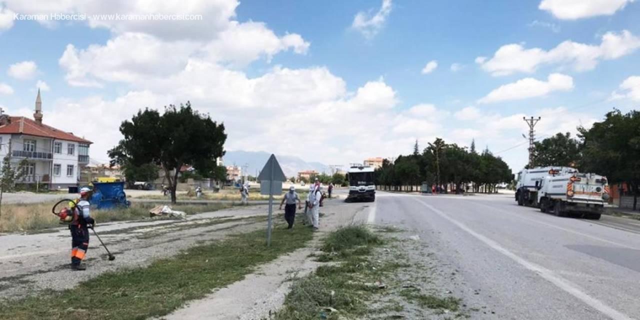 Karaman'da Yabani Ot Temizleme Çalışmaları