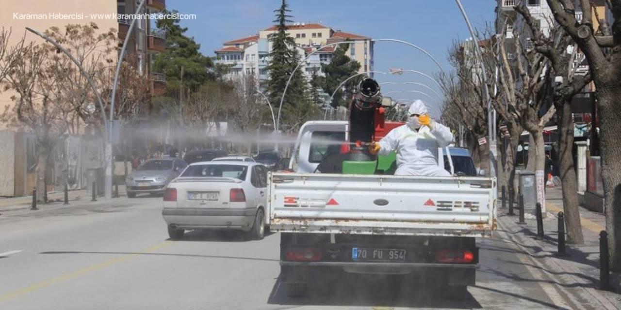 Karaman'da Dezenfekte Çalışmaları