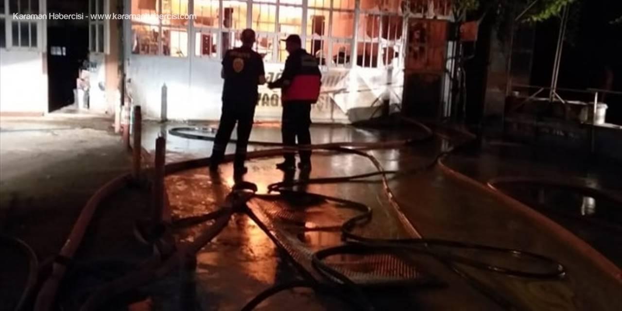 Akşehir Sanayisinde Yangın Paniği