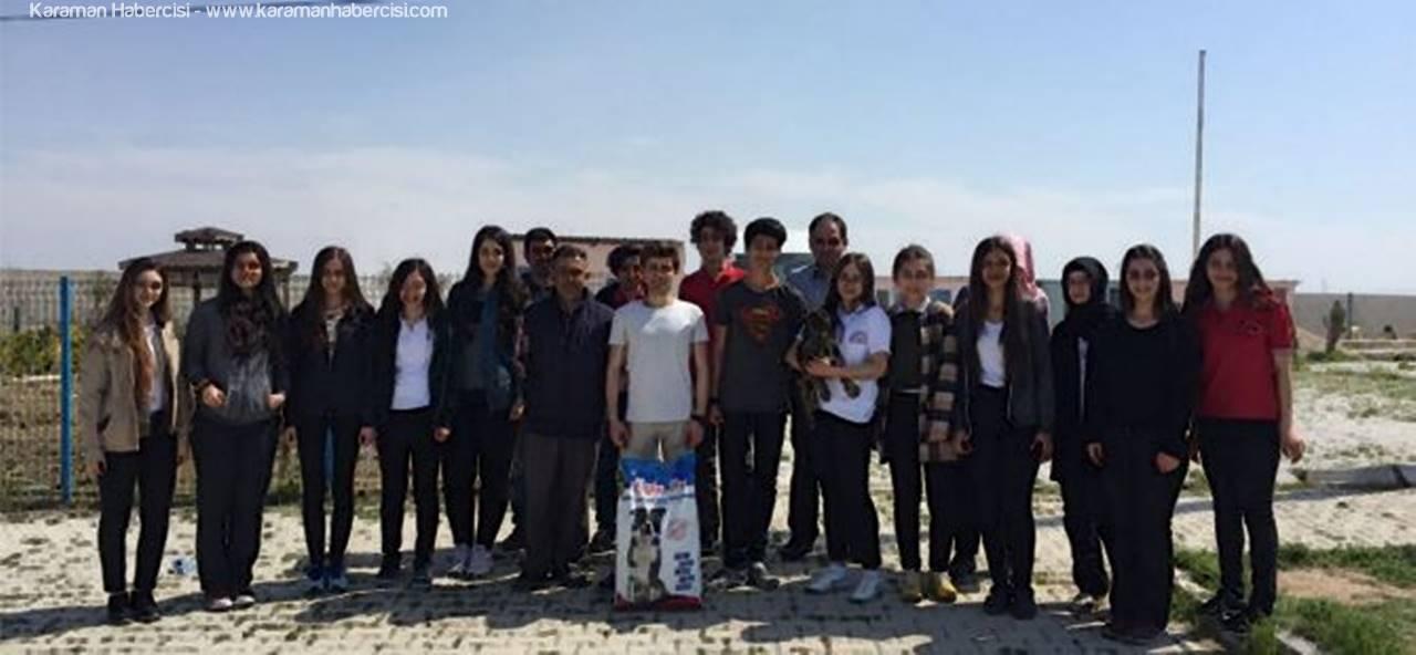 Karamanlı Öğrencilerden Hayvan Barınağına Ziyaret