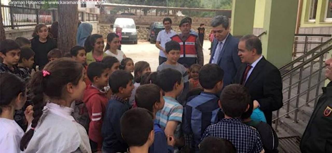 Vali Tapsız, Bucakkışla Köyü'nü Ziyaret Etti