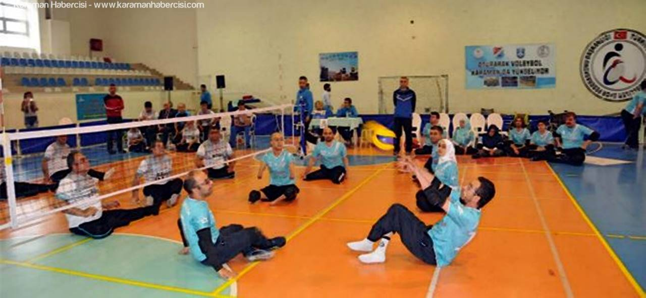 Karaman'da Oturarak Voleybol Final Müsabakaları Başladı
