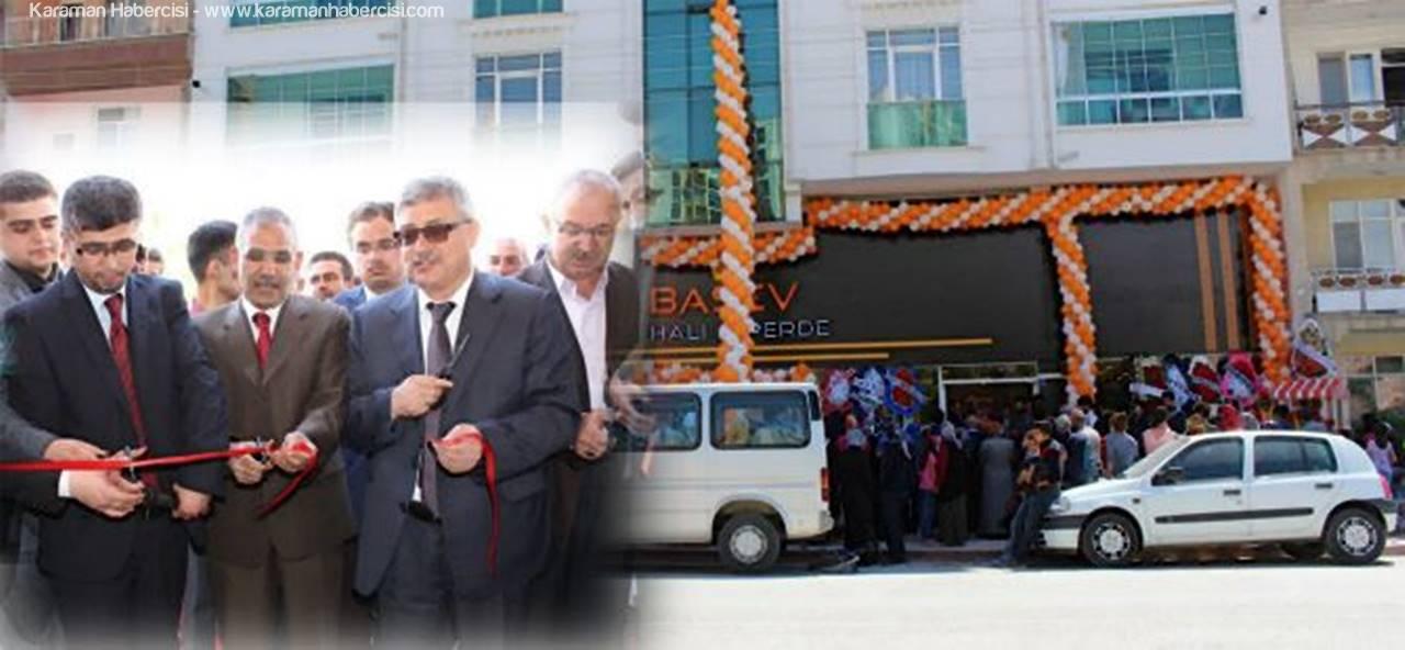 Karaman'da Başev Halı ve Perde Açıldı