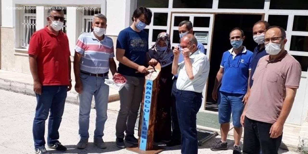 Karaman Anadolu Lisesinde Sessiz Tören