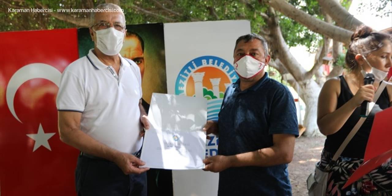 Mezitli'de gönüllülere teşekkür belgesi verildi