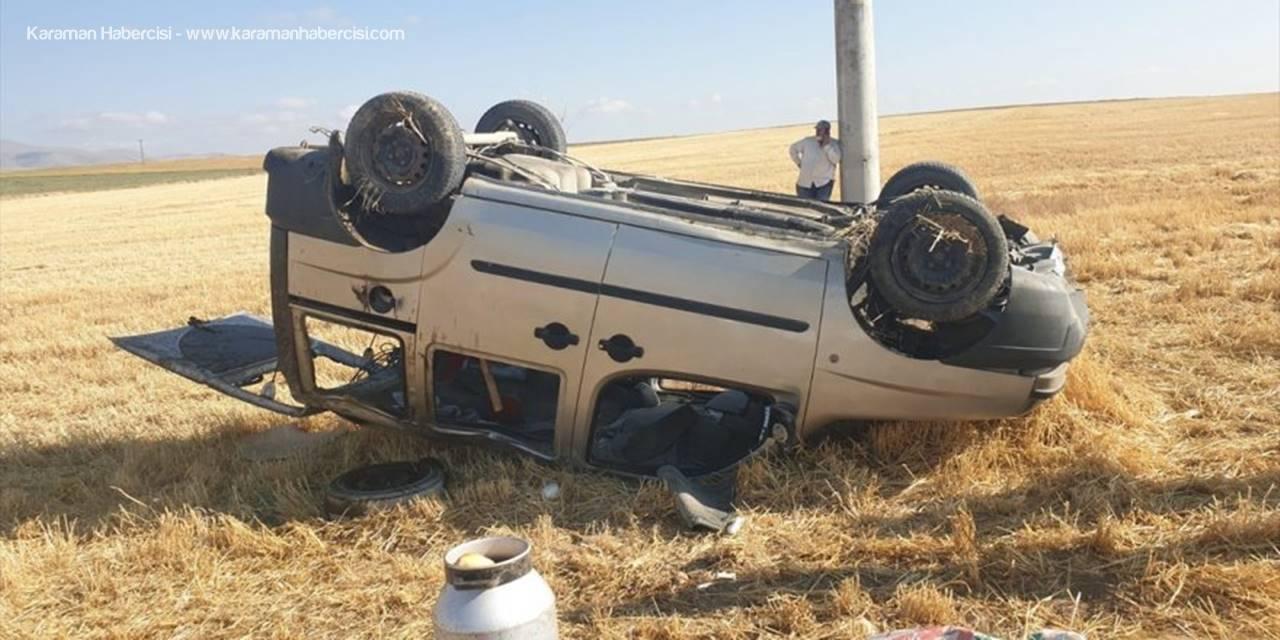 Konya'da Devrilen Araçta 4 Kişi Yaralandı