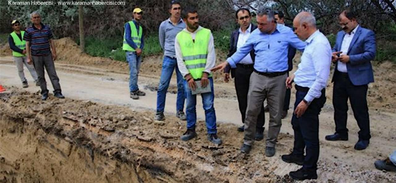 Karaman'da Alt Yapı Çalışmalarında Son Durum