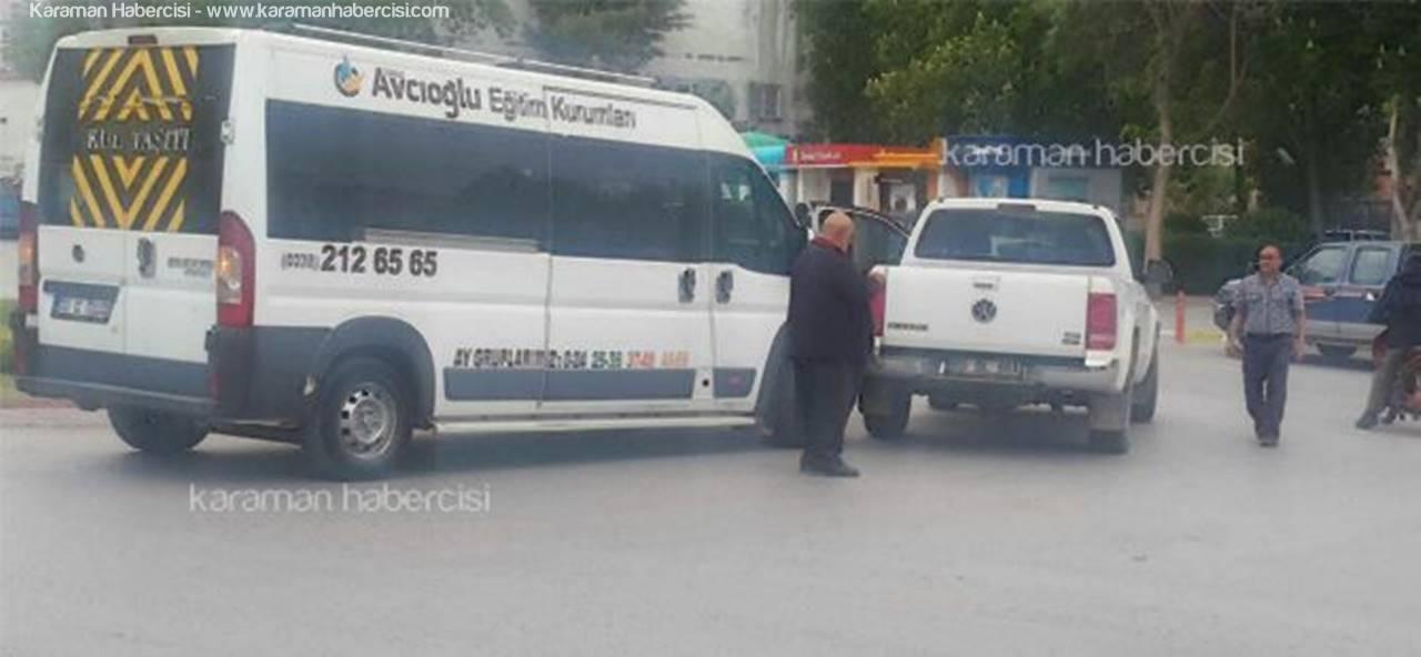 Karaman'da Şehir Trafiği ATM Trafiğiyle Karışınca
