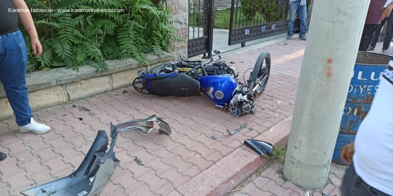 Konya'da Otomobille Motosiklet Çarpıştı Bir Kişi Hayatını Kaybetti