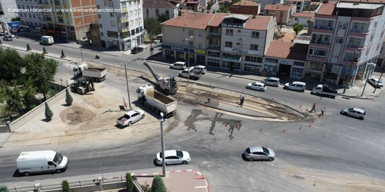 Karaman'da Mezarlık Girişinde Kavşak Düzenlemesi