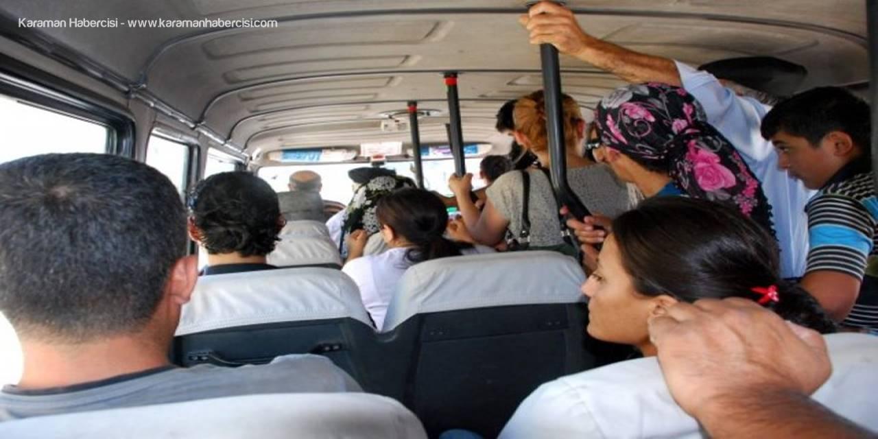 Konya'da Kovid-19 tedbirlerini ihlal eden minibüs sürücüsüne 3 bin 150 lira ceza