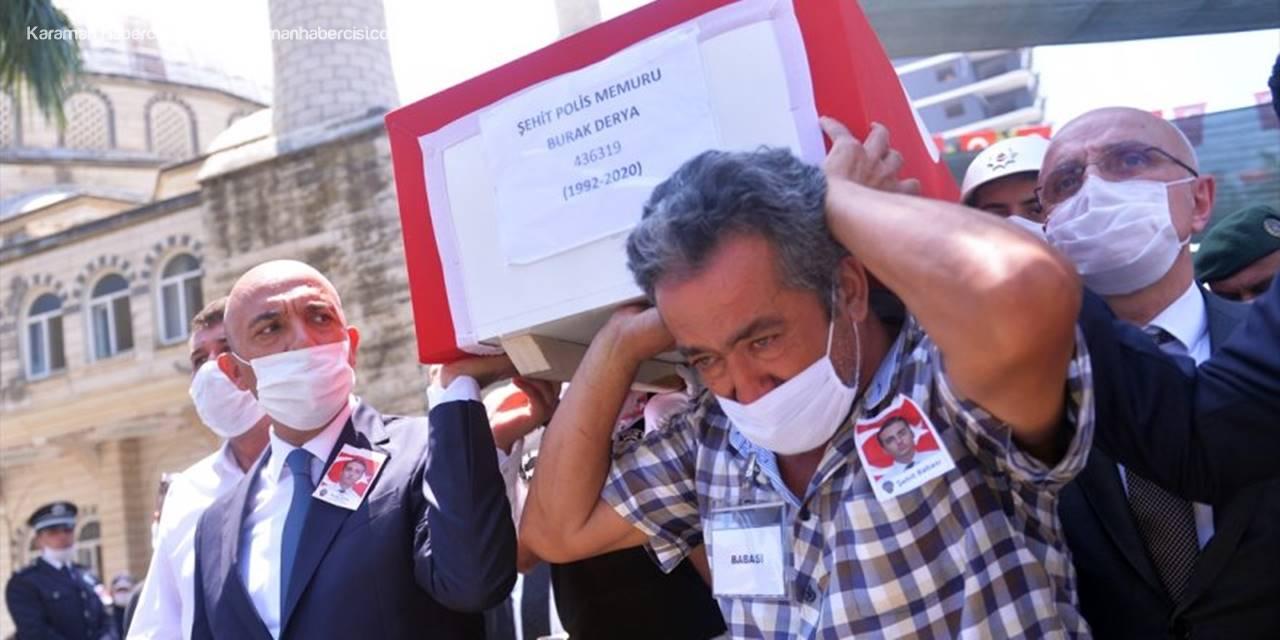 Anamur'da Şehit Polis Memuru İçin Son Görev