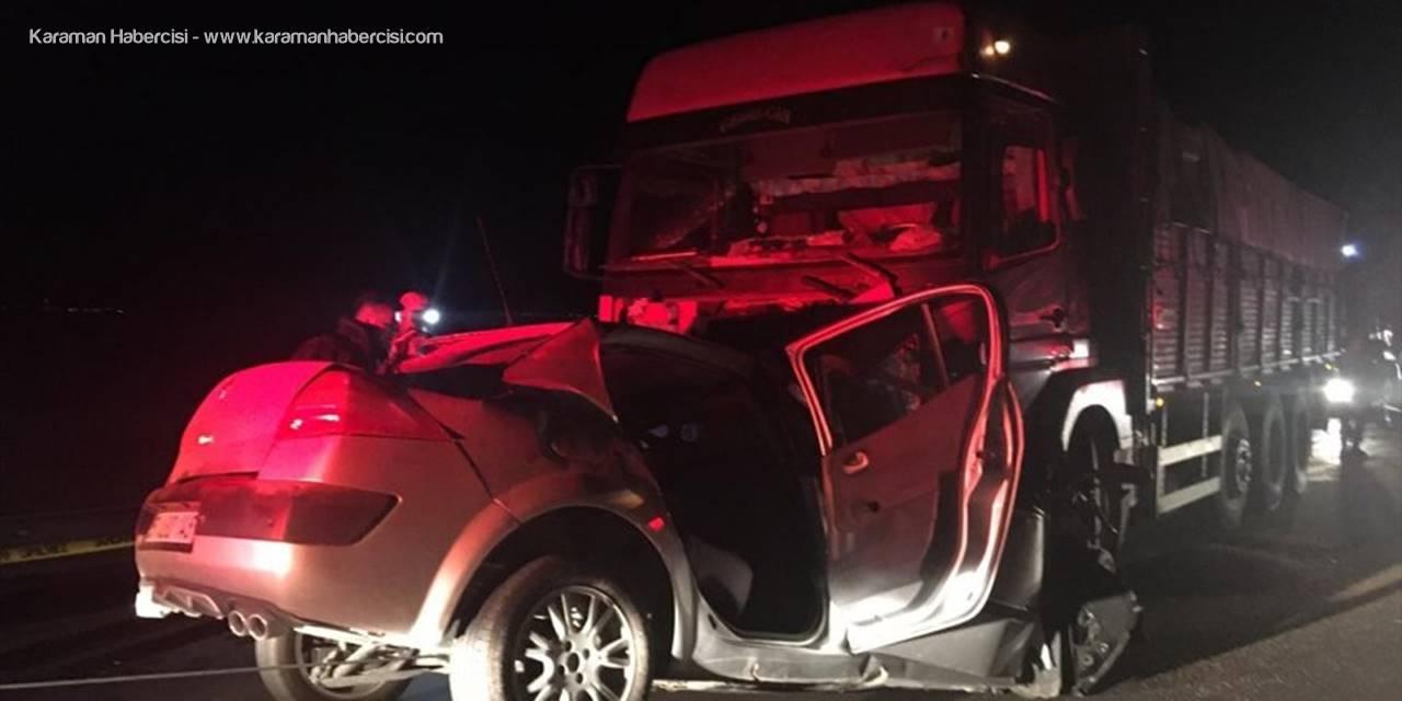 Aksaray'da kamyonla otomobil çarpıştı: 1 ölü