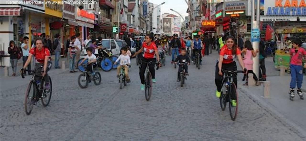 Karaman'da ''Sağlık İçin Pedal Çeviriyoruz'' Projesi